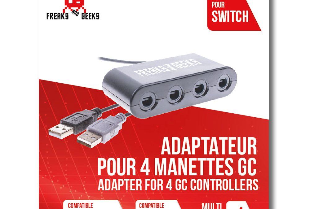 Adaptateur 4 Manettes Game Cube sur SWITCH et Wii U