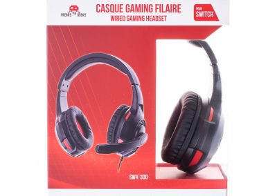 Casque double SWX-300 Switch/PS4/XBOXONE noir + Micro