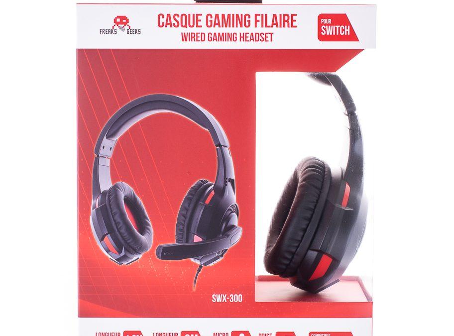 Casque double SWX-300 Switch/PS4/XBOXONE noir + Micro