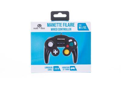 Manette Noire Wii/GC avec fonction Turbo et Slow