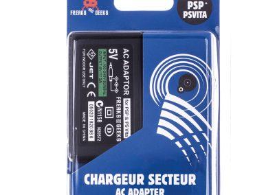 Chargeur secteur PS Vita 1000 & PSP + câble (avec 2 embouts)